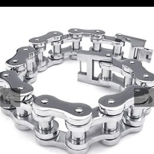 Other - Stainless steal biker chain bracelet